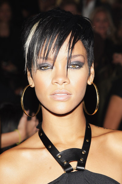 Rihanna's short sculpted hairstyle