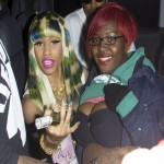 Nicki Minaj spotted over in London signing breasts again