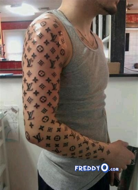 louis vuitton tattoo on head
