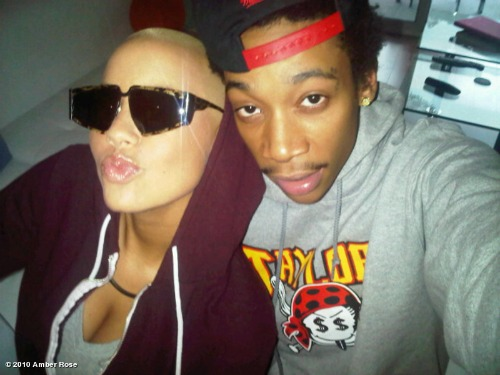 amber rose and wiz khalifa at woodie. Up-and-coming rap star Wiz