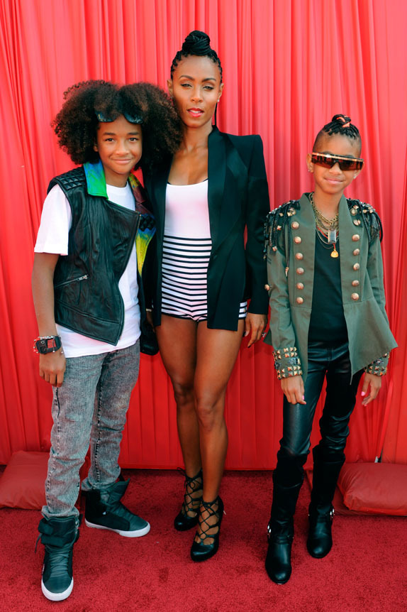 Jayden Smith, Jada Pinkett Smith, Willow Smith