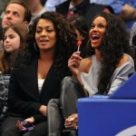 Ciara, LaLa, & Adrienne Bailon Kick It Court-Side To Give The Players Some Hot I Candy!!!