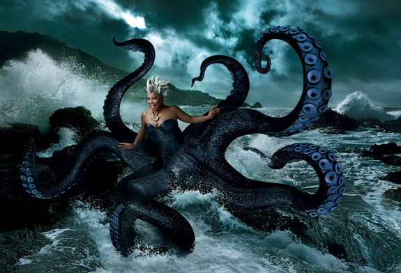 QUEEN LATIFAH AS URSULA BY ANNIE LEIBOVITZ FOR DISNEY PARKS