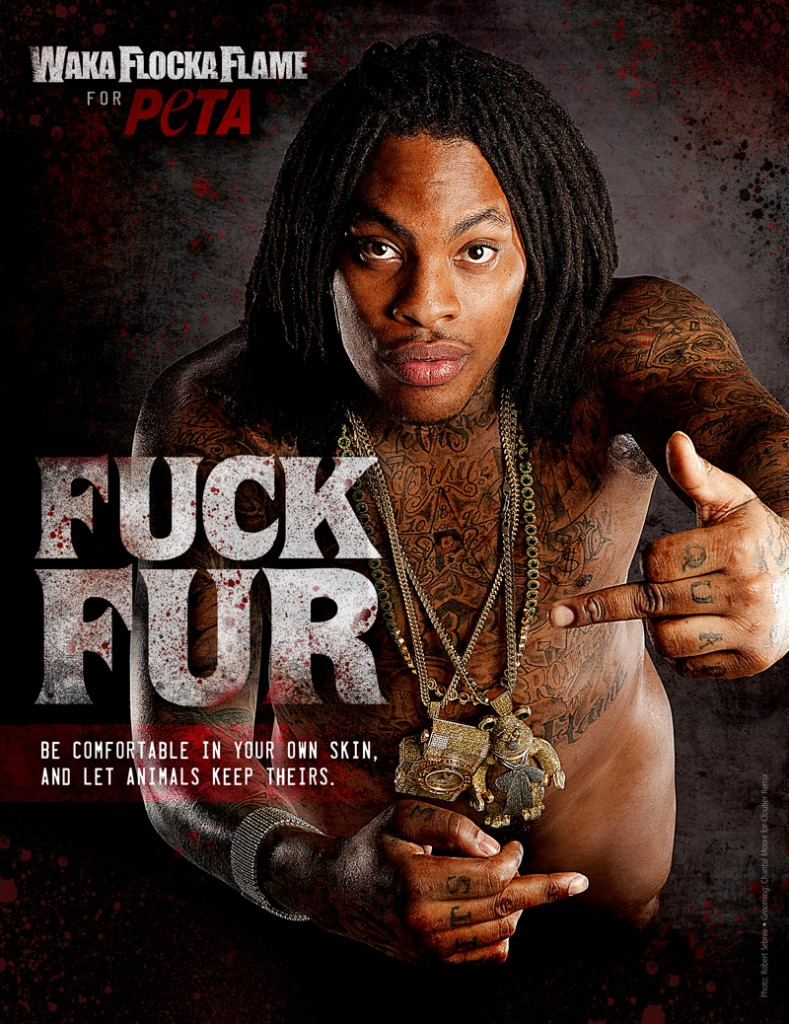 Waka Flocka Flame Chooses Ink, Not Mink