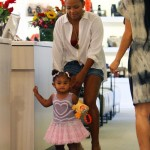 Christina Milan And Baby Violet Shop For Shoes At Fred Segal