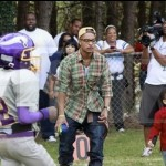 T.I Attends Son's Football Game