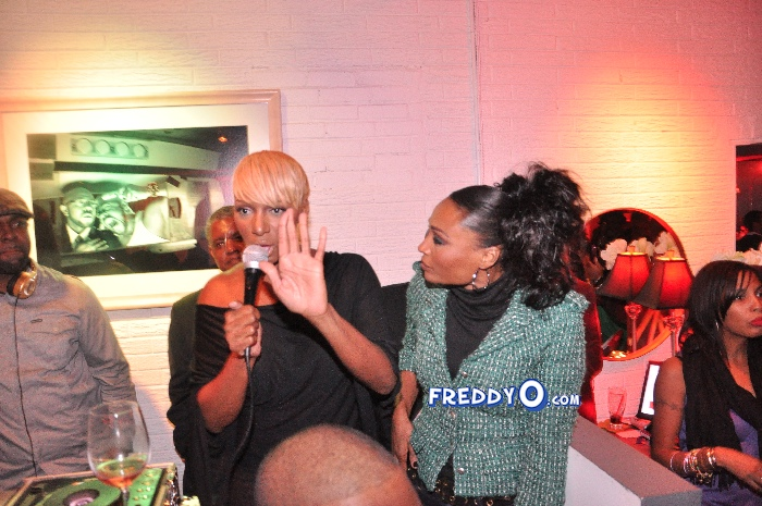 Nene, Cynthia Bailey, Marlow Hampton viewing party @BarOne AtlDSC_0163
