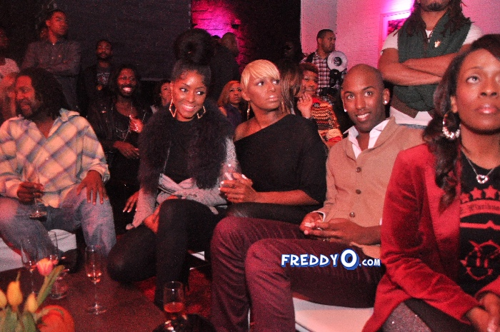 Nene, Cynthia Bailey, Marlow Hampton viewing party @BarOne AtlDSC_0211