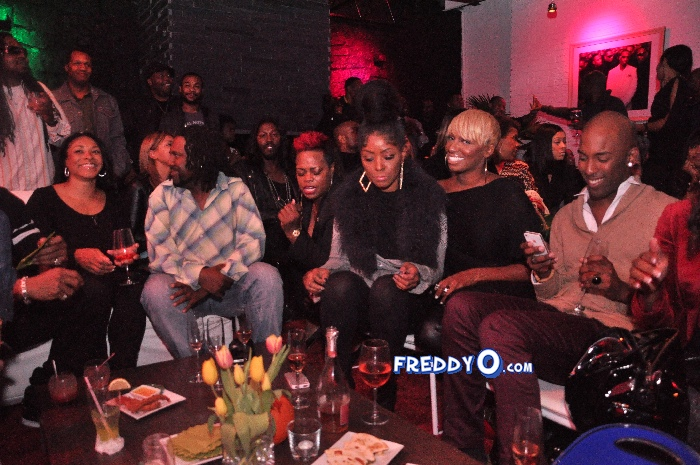 Nene, Cynthia Bailey, Marlow Hampton viewing party @BarOne AtlDSC_0221