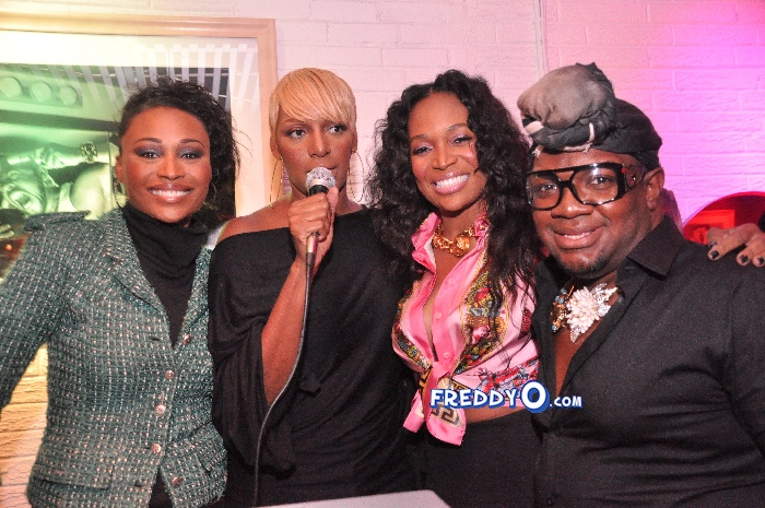 Nene, Cynthia Bailey, Marlow Hampton viewing party @BarOne AtlDSC_0253