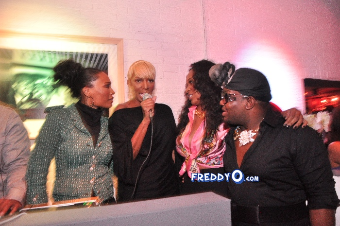 Nene, Cynthia Bailey, Marlow Hampton viewing party @BarOne AtlDSC_0259