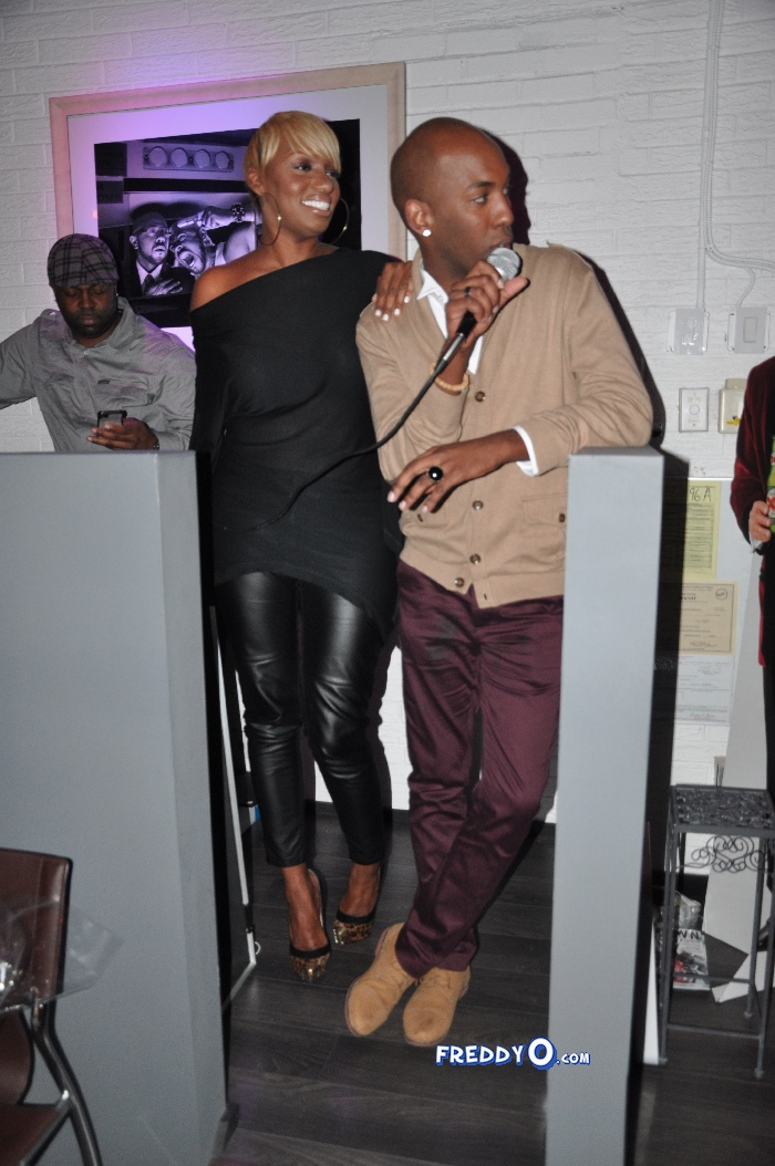 Nene, Cynthia Bailey, Marlow Hampton viewing party @BarOne AtlDSC_0354
