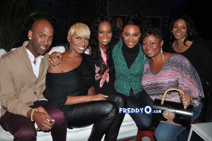 Nene, Cynthia Bailey, Marlow Hampton viewing party @BarOne AtlDSC_0369