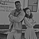 Lance Gross & Journee Smollett On Set Of 'The Marriage Counselor'