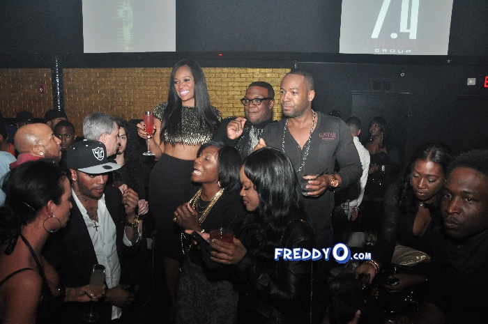 Marlo Hampton and Derrick J Kick Out MLK Weekend 20120148
