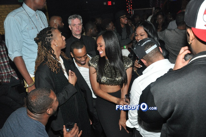 Marlo Hampton and Derrick J Kick Out MLK Weekend 20120224