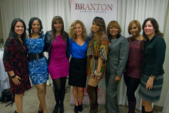 Theresa Patiri (VP of Production - WEtv) - Trina,Towanda, Kim Martin (Pres of WEtv), Tamar, Evelyn, Traci, Didi O'Hearn (VP of Development - WEtv)