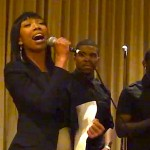 """Brandy Singing """"His Eye Is On The Sparrow"""" at Sing-A-Rama Event in LA"""