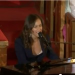 """Alicia Keys at Whitney Houston's Funeral """"Send me an Angel"""""""