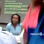 Girl in College Goes Crazy, Telling The Teacher She's Going To Kill Him