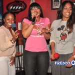Karaoke With A Cause At Nancy's Pizza: Chanita Foster, Keshia Knight Pulliam and Monyetta Shaw