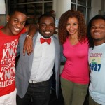 Emmanuel and Phillip Hudson, Rodney Perry and Mari Morrow Attend Private Screening at Buckhead Bottle Bar