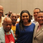 Congressman John Lewis and Praise 102.5 Darlene McCoy, attend Real Men Cook