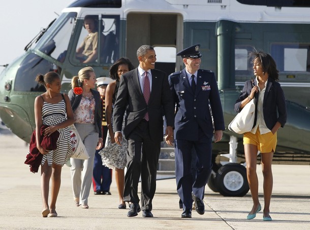 U.S. President Barack Obama walks to Air Force One at Joint Base Andrews