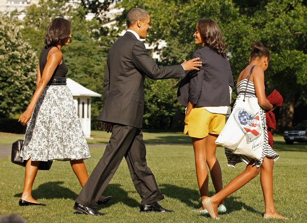 The First Family Departs The White House For Chicago