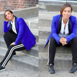 Alicia Keys poses for a quick pic while filming new Reebok commercial in NYC