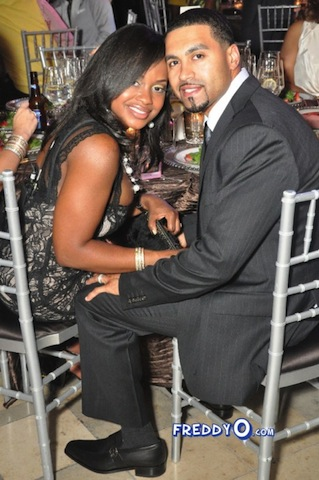 Phaedra and Apollo pose for photo
