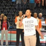 Anthony Q Sings National Anthem At Atlanta Dream Game