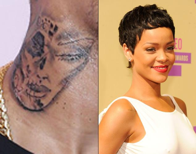 chris brown tattoo rihanna