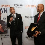 T.J. receiving Hennessy Privilege Award