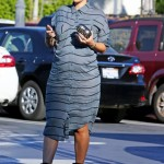 Pregnant Amber Rose Shows Off Her Brown Hair & Grabs Ice Cream
