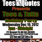 Event: 'Tees & Tatts Party' With Celebrity Tattoo Artist @CPTATTGOD