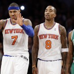 Carmelo Anthony, J.R. Smith, Jason Terry