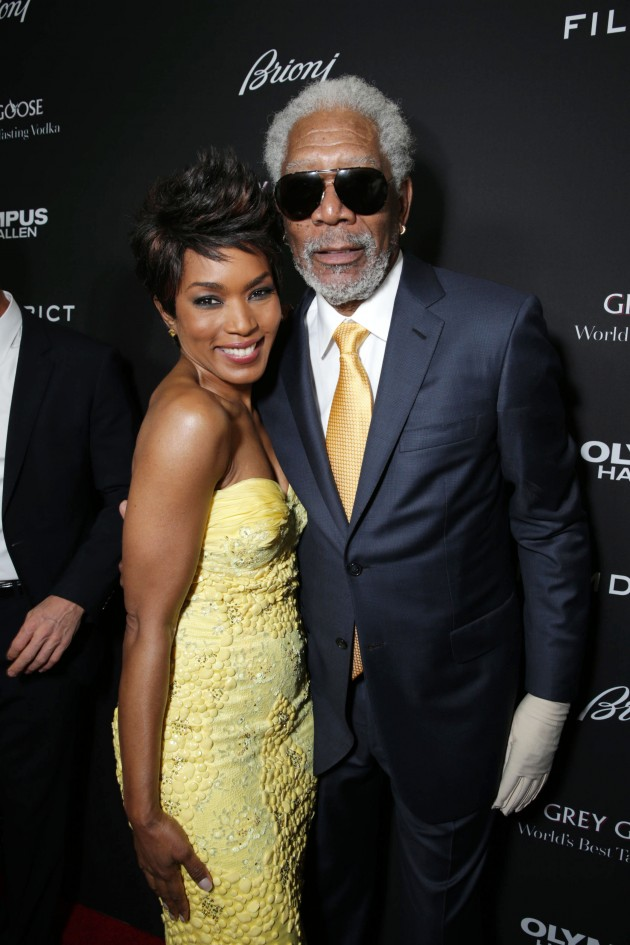 Angela Bassett, Morgan Freeman