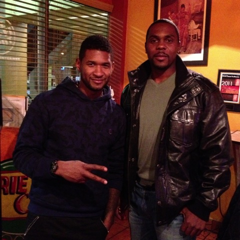 Usher at Chef Robs