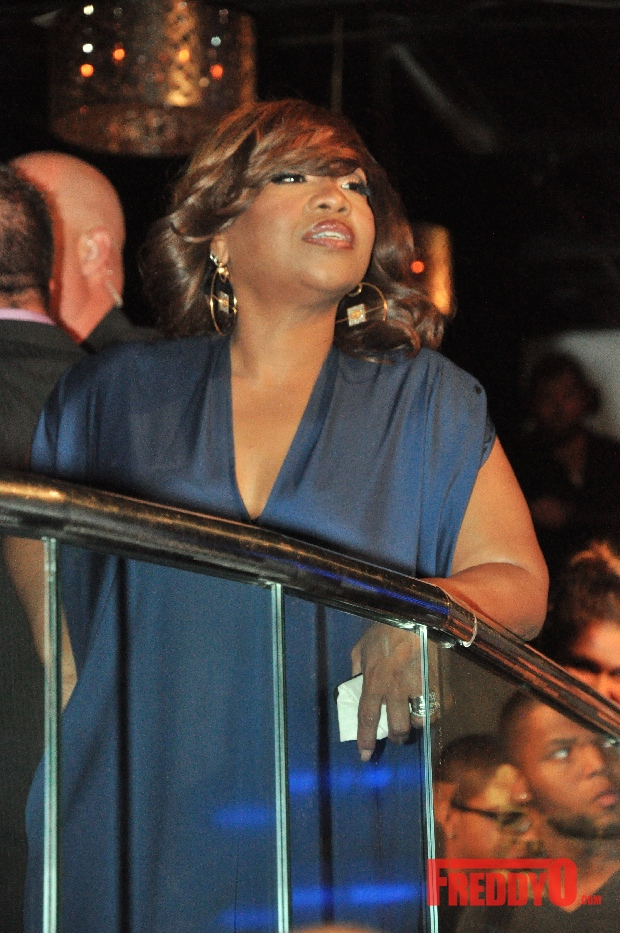 Boss Lady Mona Scott-Young made an appearance at the Love &amp; Hip Hop Atlanta's premiere party at Ultra Cream Lounge.