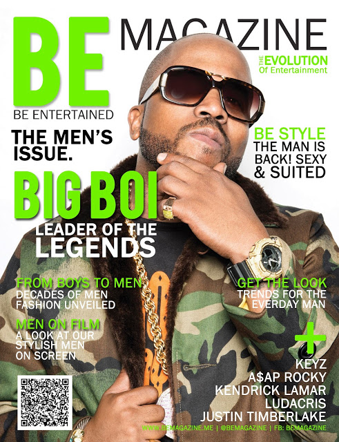 Big Boi Covers BE Magazine 2nd Annual MEN'S ISSUE