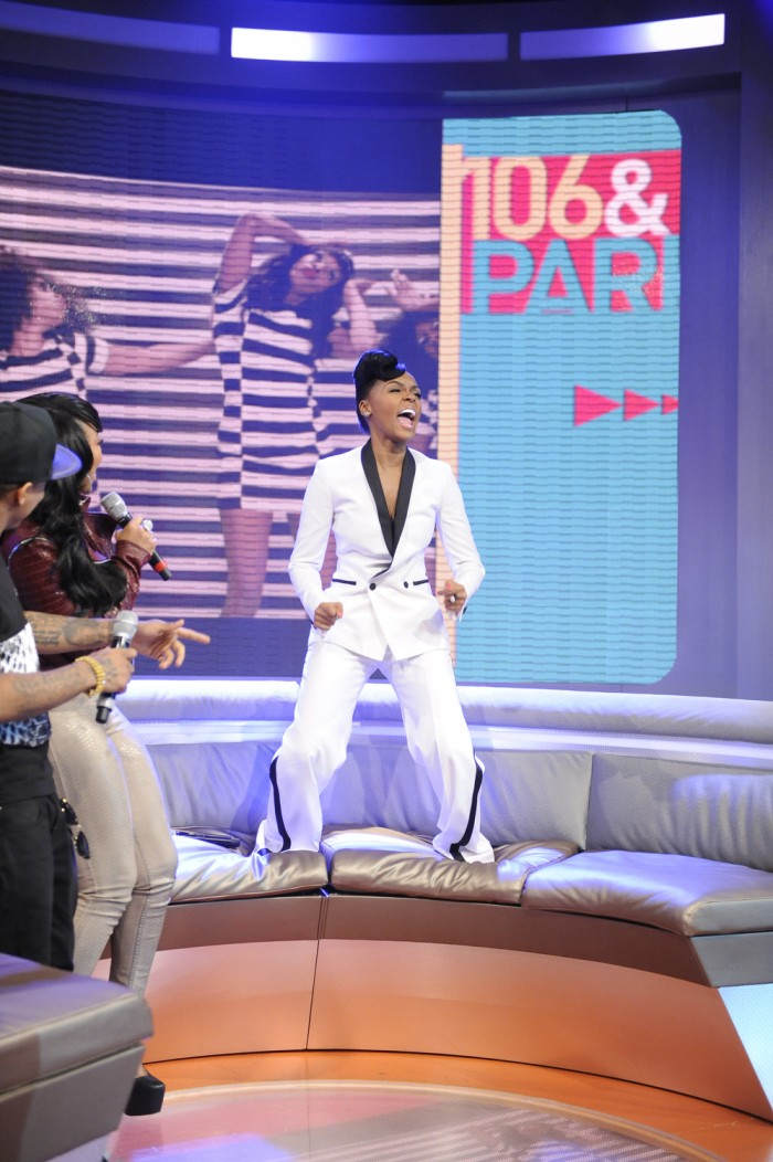 Janelle Monae at 106 &amp; Park, May 1, 2013. (photo: John Ricard / BET)