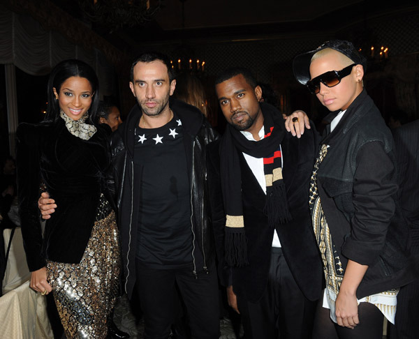 Photo of Riccardo Tisci & his friend  Kanye West