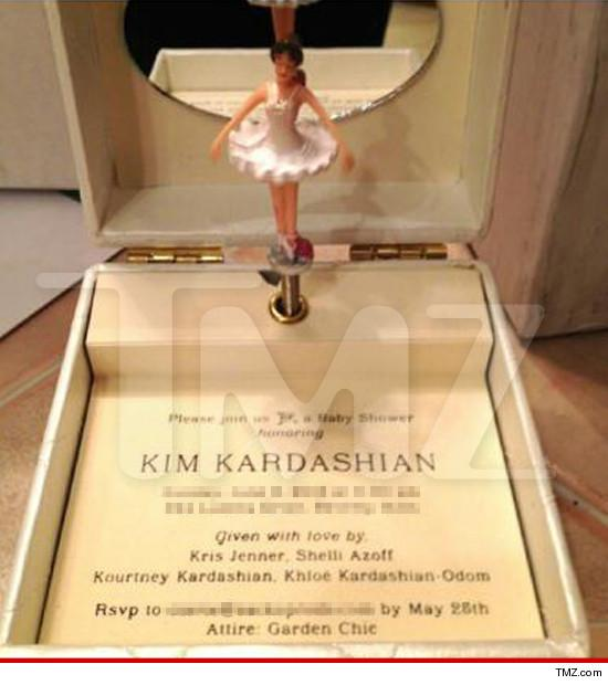 oh baby kim kardashian and kanye west send out fabulous baby shower