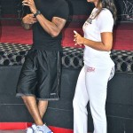 Lisa Raye McCoy, Dj Fadelf and DJ Hershey Support the 40/40 Fit Club Project