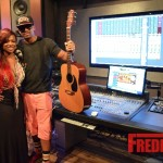 PHOTOS : Kandi Burruss & Stevie J Work On New Song In Studio