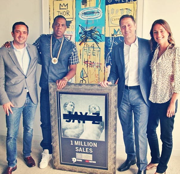 Jay-Z-Receives-Platinum-Plaque