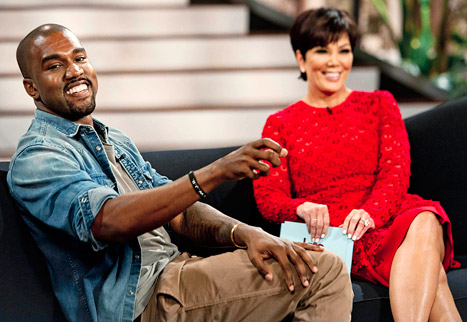 Kanye West shows North West First Baby Photo