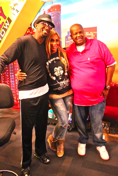 Rickey Smiley, Tamar Braxton and Vince Herbert
