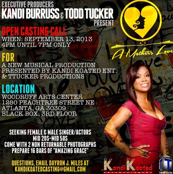kandi burrus open casting call for a mother's love